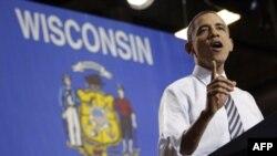 Tổng thống Obama đọc diễn văn về sản xuất tại Hoa Kỳ trong chuyến thăm Master Lock ở Milwaukee, Wisconsin, 15/2/2012