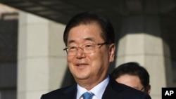 资料照:韩国外交部长官郑义溶