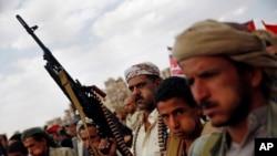 Waasi wa kihouthi nchini Yemen wanaopigana na majeshi ya serikali.