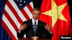 Tổng thống Hoa Kỳ Barack Obama tại Hà Nội ngày 23/5/2015.