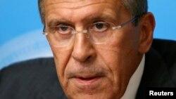 세르게이 라브로프 러시아 외무장관이 지난 9일 모스브카에서 시리아 화학무기 통제 계획에 대해 설명하고 있다.