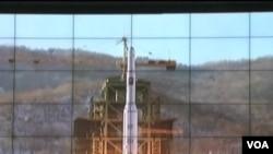 北韓發射導彈(資料照片)