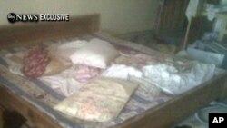 美國廣播公司的錄像顯示本拉登被殺的住所的睡床
