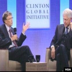Bill Gates i Bill Clinton na skupu Clintonove Globalne Inicijative u New Yorku