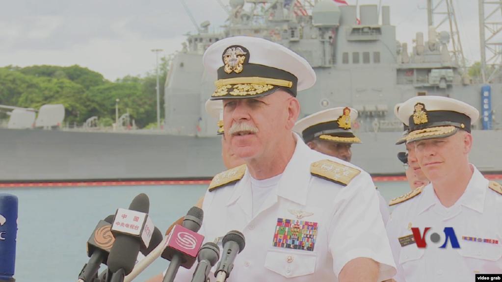 Đô đốc Scott Swift, Tư lệnh Hạm đội Thái Bình Dương Mỹ.