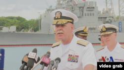 美军太平洋舰队司令斯威夫特上将(视频截图)
