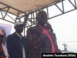 Georges Armand Ouegnin, président de cette coalition, à Abidjan, le 17 mars 2018. (VOA/Ibrahim Tounkara)