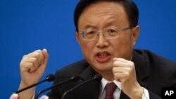 中国外长杨洁篪3月6号在北京人民大会堂举行记者会
