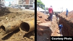 Harare water pipe replacement underway in most parts of the city.