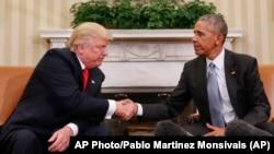 唐納德·川普星期四首次以當選總統的身份訪問白宮並與奧巴馬見面。