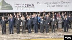 La comisión tiene hasta el 30 de julio para dar sus recomendaciones, según la resolución aprobada por los cancilleres en la asamblea de la OEA realizada en Lima.