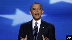 Tổng thống Barack Obama đọc diễn văn chấp nhận đề cử tại Đại hội Đảng Dân chủ Hoa Kỳ, 6/9/2012