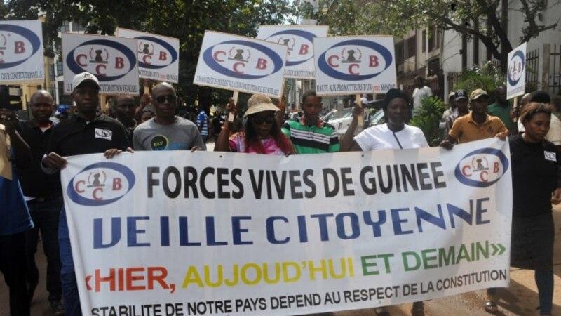 Manifestation de soutien au président de la Cour constitutionnelle en Guinée