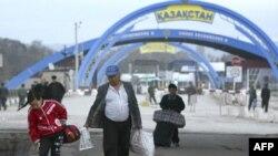 Kazakistan'dan sokak manzarası