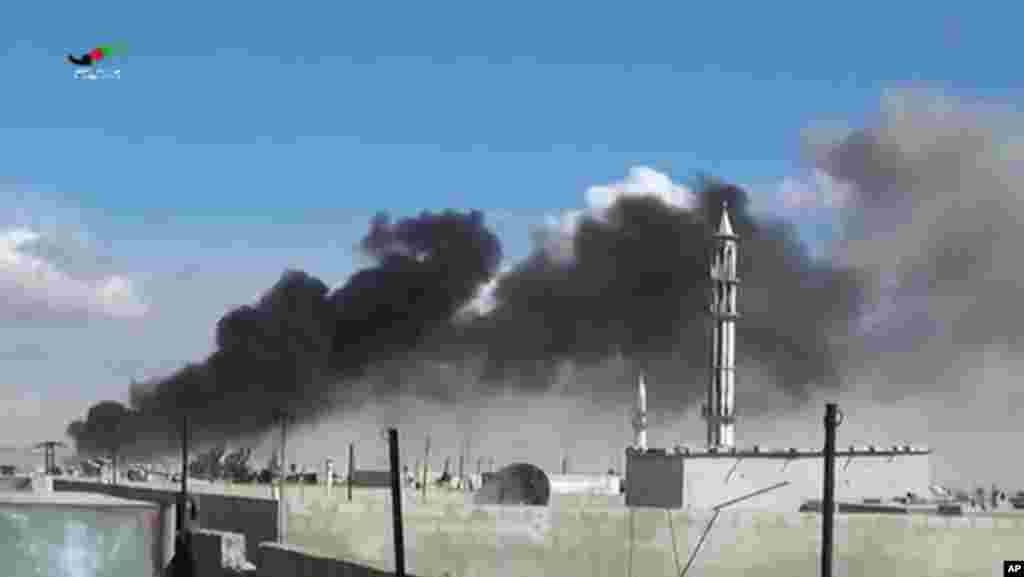 Rusiya Suriyanın Talbisə şəhərinə hava hücumları edib