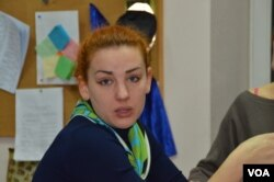 Ukrainian lawmaker Lesya Orobets (Jamie Dettmer/VOA)