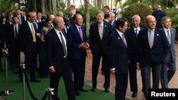 Các đại biểu tham dự một cuộc họp thượng đỉnh G-20 hồi tháng 9/2014.