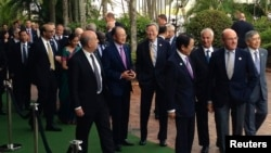 Bộ trưởng tài chánh và thống đốc ngân hàng trung ương của các nước thuộc khối G20 tham dự hội nghị tại thành phố Cairns, Australia, ngày 20/9/2014.