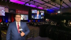 Kane Farabaugh, VOA Midwest correspondent, covers the Iowa Caucuses in 2020.