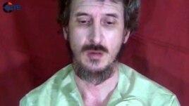 Hoton jami'in leken asirin dan kasar Faransa, Dennis Allex wanda al-Shabaab tace ta kashe. Oktoba. 4, 2012