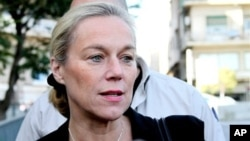 Sigrid Kaag, head of the U.N. team charged with destroying Syria's chemical weapons, addressing reporters in Damascus, Oct. 22, 2013.