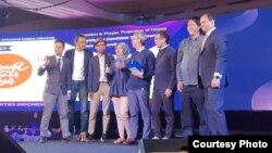 Berakar Komunikasi menangkan Mobile Marketing Association (MMA) Smarties tahun 2019 di Jakarta. (Courtesy: Berakar Komunikasi)