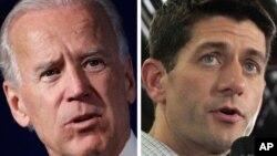 Phó Tổng thống Joe Biden và đối thủ đảng Cộng hòa, Dân biểu Paul Ryan