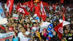 Ủng hộ viên của đảng Ennahda biểu tình trong thủ đô Tunis
