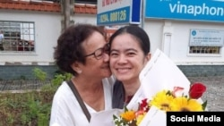 Bà Đặng Ngọc Minh và con gái Nguyễn Đặng Minh Mẫn, ngày 2/8/2019, Photo: Facebook Loi Minh