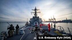 Ракетний есмінець США USS Donald Cook, Одеса, лютий 2019 року