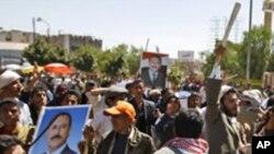 반정부 시위에 대항하는 친정부 시위자들