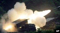 한국군의 미사일 훈련 (자료사진)