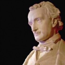 Edmund Quinn's sculpture of Edgar Allan Poe is on display at The Poe Museum in Richmond, Virginia.