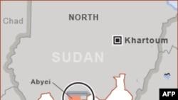 Khu vực tranh chấp Abyei nằm trong vùng biên giới Bắc và Nam Sudan