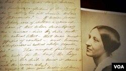 Original pisma o muskoj represiji zenskih prava tijekom Spansko-americkog rata, napisano rukom Susan B. Anthony, 1898. godine.