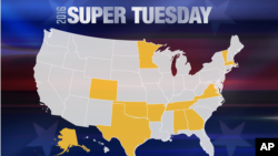 انتخابات در ایالت های آلاباما، آرکانزاس، جورجیا، ماساچوست، مینه سوتا، اوکلاهما، تنسی، تگزاس، ورمونت، و ویرجینا برگزار می شود.