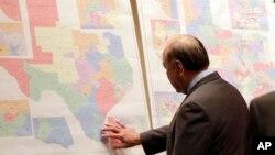 Около карты Техаса