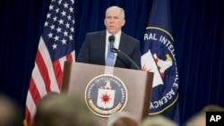 ຫົວໜ້າອົງການສືບລັບ ທ່ານ John Brennan ກ່າວຕໍ່ກອງປະຊຸມ ນັກຂ່າວ ທີ່ກອງບັນຊາການ CIA.
