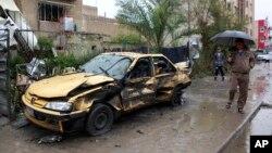 2月3日﹐伊拉克北部一個商業區發生炸彈爆炸。