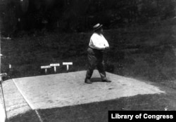 William Taft playing golf