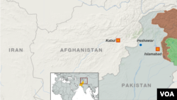 Peta wilayah Peshawar, Pakistan