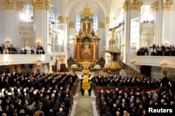 Gereja Sankt Michaelis di Hamburg, Germany, November 23, 2015. (Foto: Reuters)