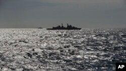 Военный корабль НАТО в Черном море