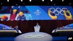 Phó Thủ tướng TQ Lưu Diên Đông phát biểu trong cuộc biểu quyết của IOC tại Kuala Lumpur, Malaysia, hôm 31/7/2015.
