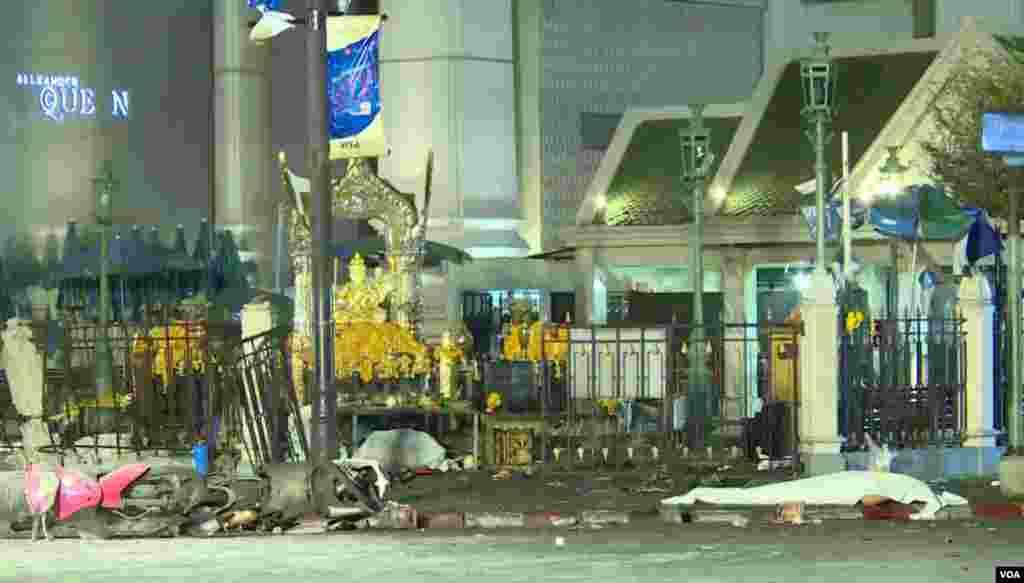 Image du centre de Bangkok, 17 août 2015.
