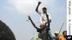 Wafuasi wa rais Joseph Kabila wakati wa kampeni za uchaguzi mkuu.
