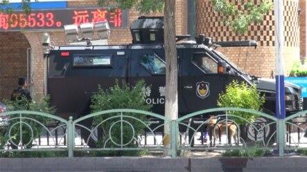 中国进入全民反恐模式 暴恐事件高发区的新疆提高警戒级别(资料图 美国之音东方拍摄)