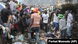 Lixeira do Hulane desabou a 19 de Fevereiro. Maputo, Moçambique