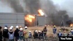 Clip bạo loạn tại nhà máy SamSung ở Thái Nguyên.