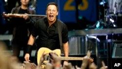 Bruce Springsteen performing in 2012.